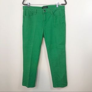 Ralph Lauren Green Classic Straight Cropped Jeans